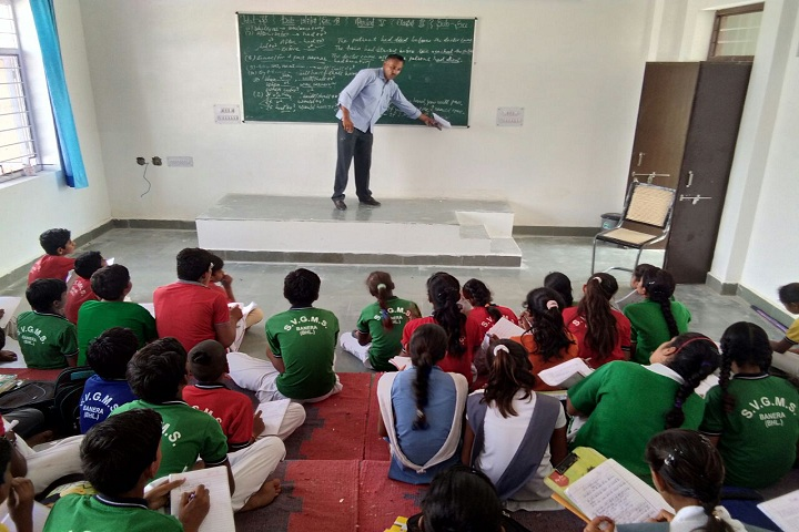 Swami Vivekanand Government Model School-Classroom with teacher
