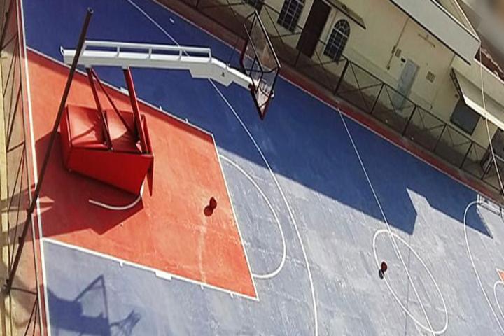 Vrindavan Public School-Basket ball court