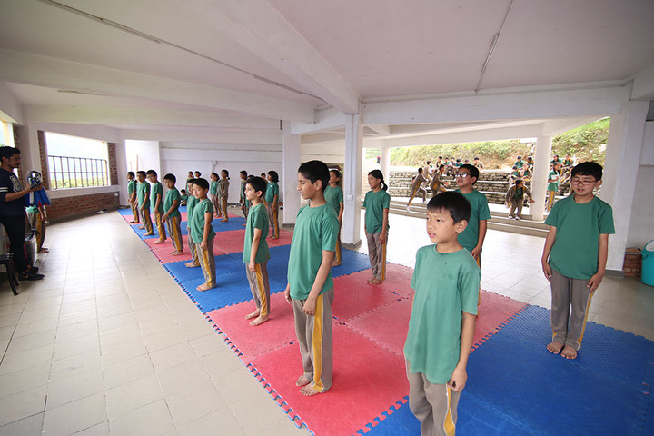 Manjusri Public School-Yoga Activity