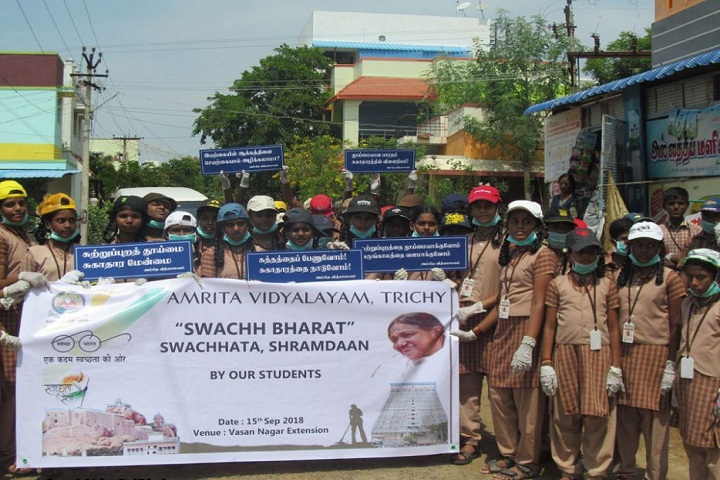 Amrita Vidyalayam-Swachh bharath