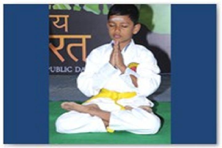 Aurobindo vidhyalaya School-Yoga day