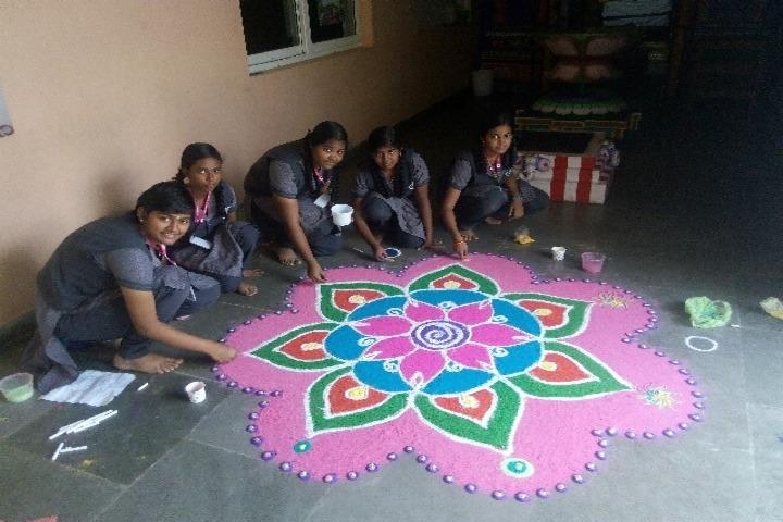 AVK International Residential School-Rangoli Competition