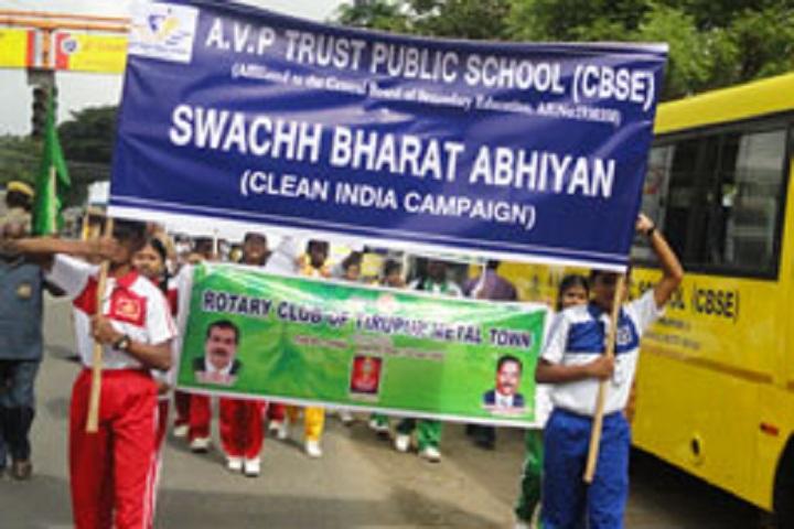 AVP trust public school-Clean India Campaign