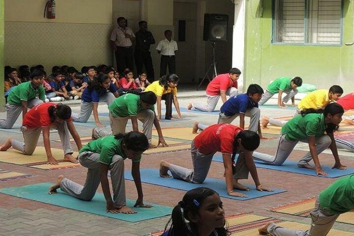 B V M Global Karpagam Campus-Yoga Day