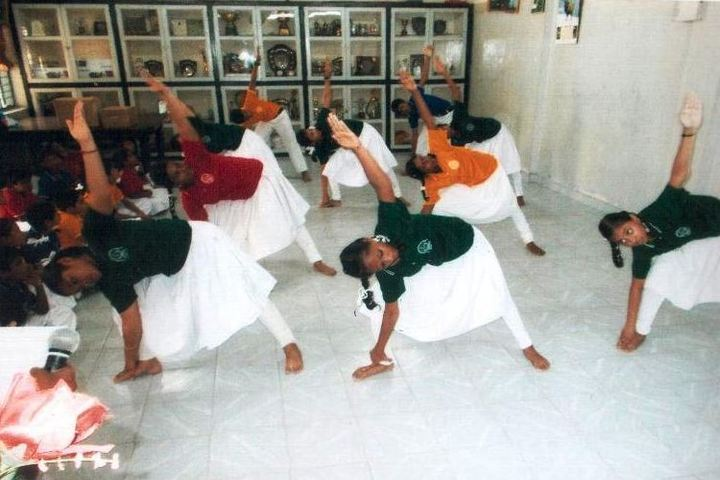Bharath Senior Secondary School-Yoga Day