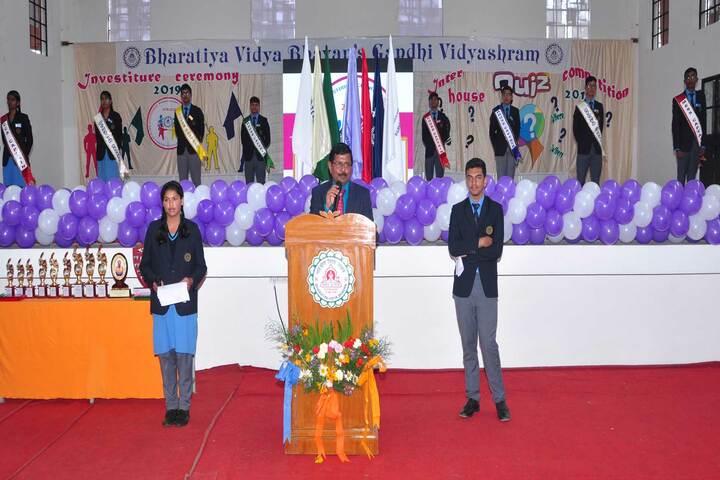 BhavanS Gandhi Vidyashram-Investiture Ceremony