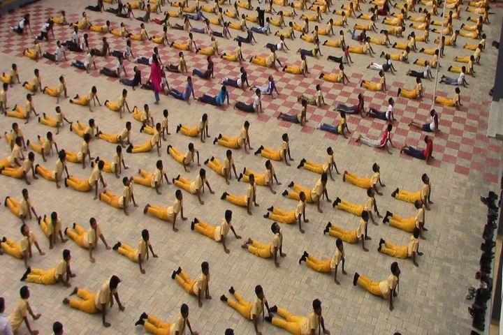 Brilliant Vidya Bhavan-Yoga Day