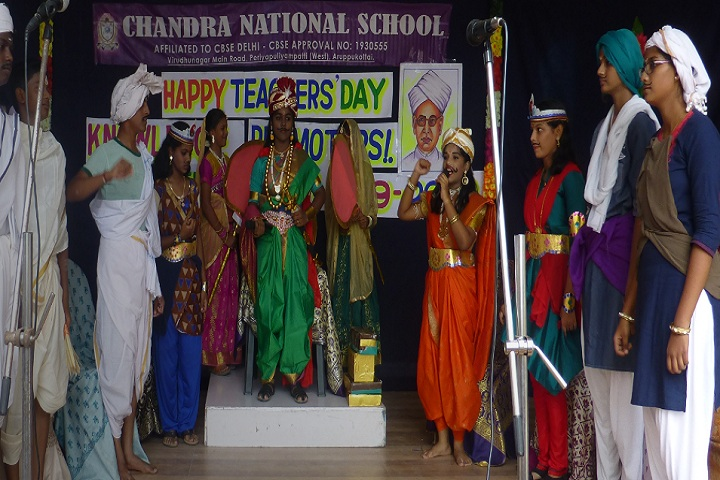 Chandra National School-Teachers Day