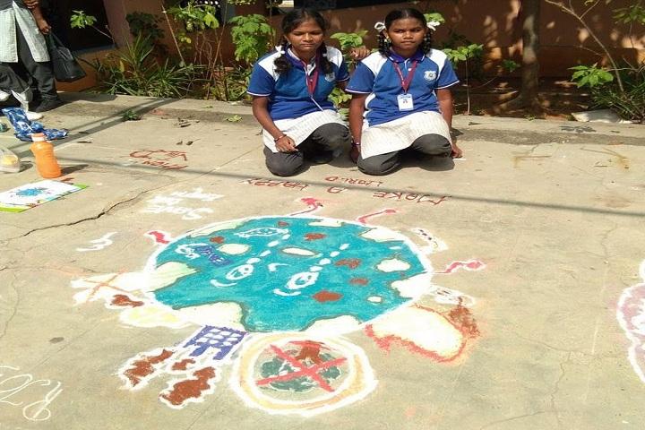DAV BHEL School-Rangoli