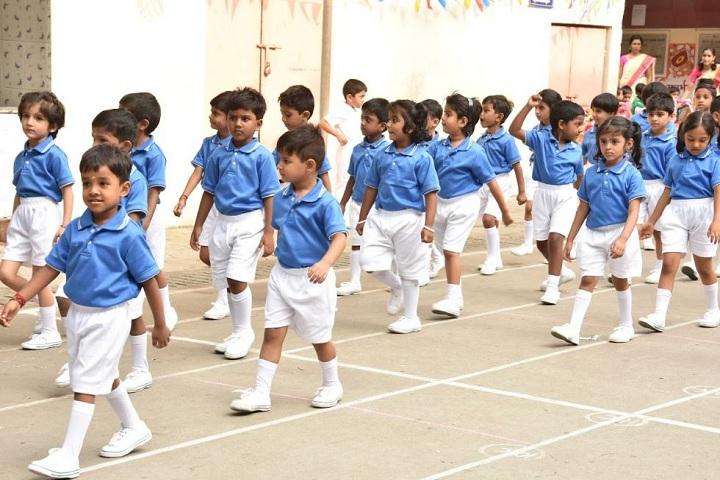 D A V Girls Senior Secondary School-Blue Day