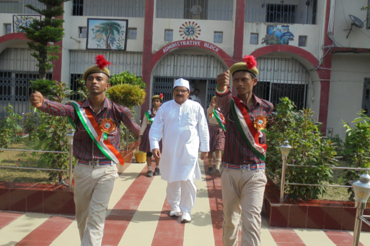 Nikhil Shyama D A V Public School-Welcoming The Guest