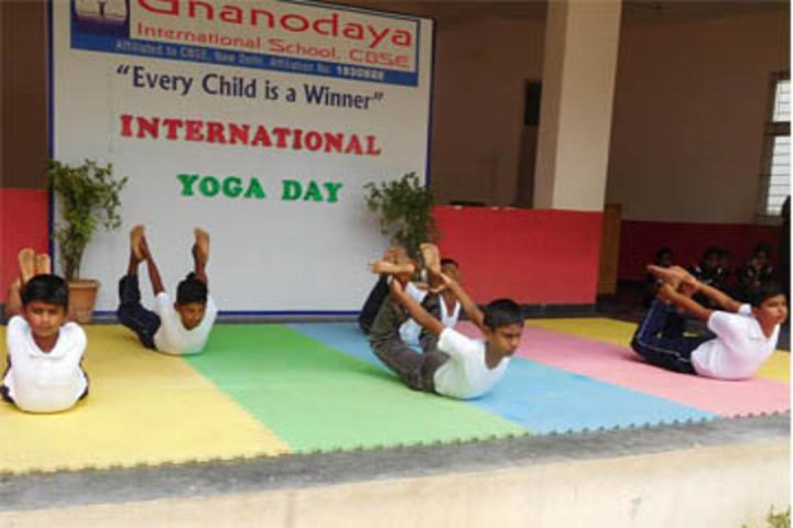 Gnanodaya International School-Yoga Day