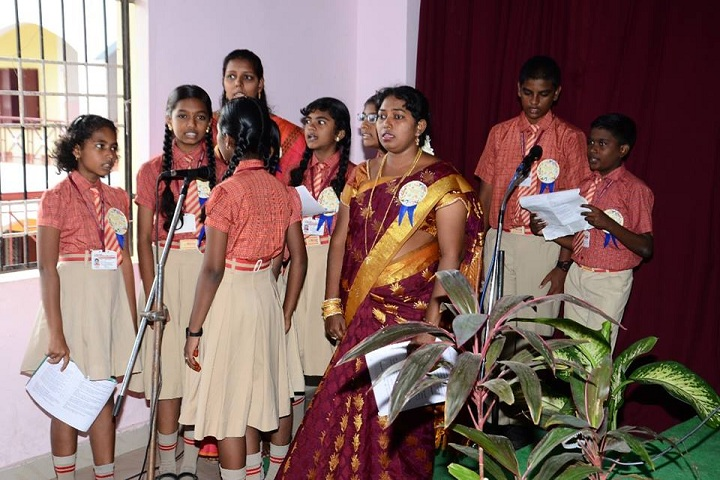 Good Shepherd Model School-Singing