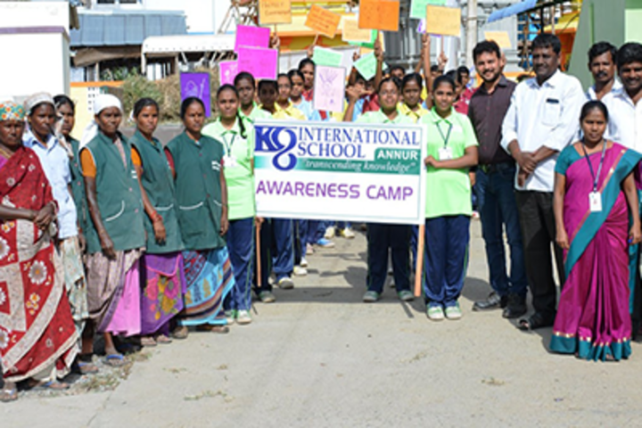 K G International School-Swachh Bharath Activity
