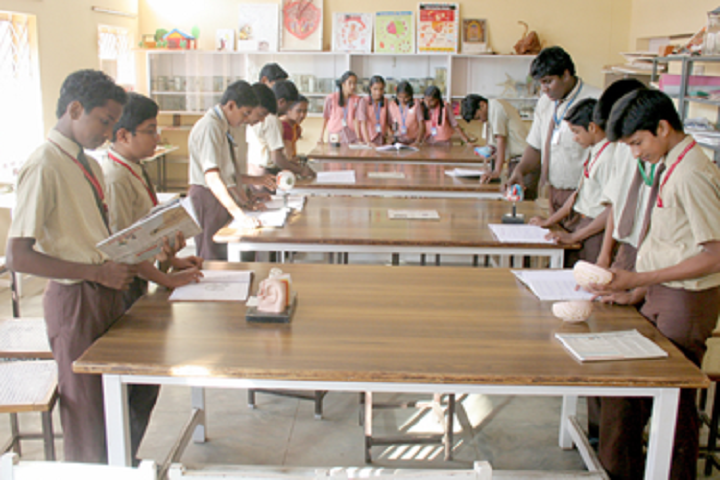 Kamala Subramaniam Secondary School-Biology lab