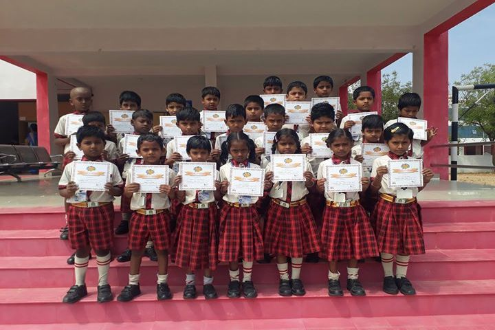 Kamarajar Public School - Participants Of Spell Bee