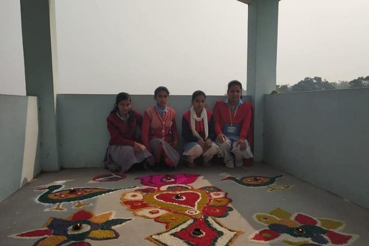 P C High School-Rangoli Competition
