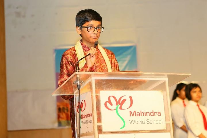 Mahindra World School-Speech