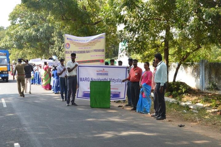 Marg Navajyothi Vidyalaya-Students Rally