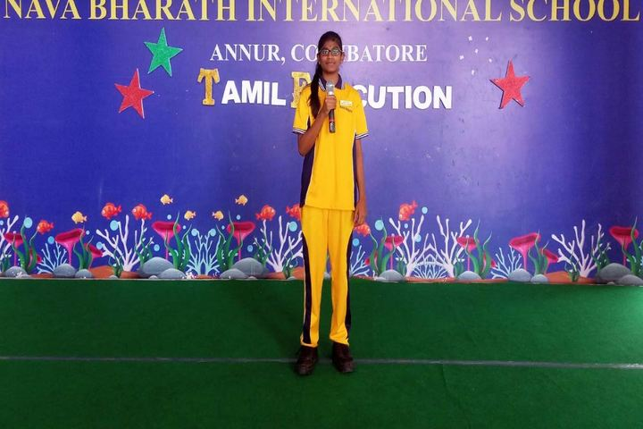 Nava Bharath International School-Elocution Competition