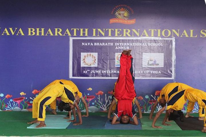 Nava Bharath International School-Yoga Day