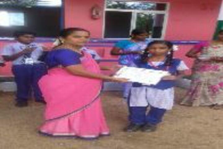 Nehruji Central Higher Secondary School-Award Receiving