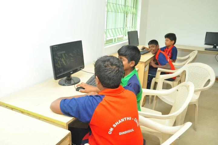 Om Shanthi Higher Secondary School-Computer Lab