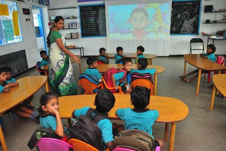 Om Shanthi Higher Secondary School-Kindergarten Classrooms