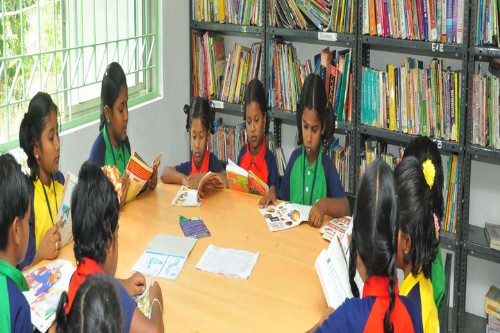 Om Shanthi Higher Secondary School-Library