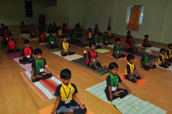 Om Shanthi Higher Secondary School-Yoga