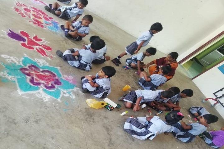 Ramsuns International School-Rangoli Competition