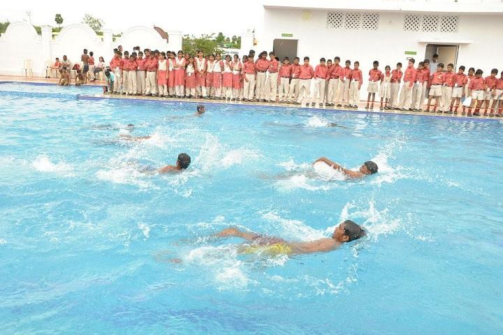 Royal International School-Sports swimming