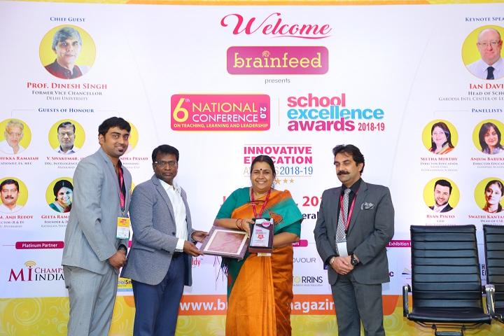 Sir Sivaswami Kalalaya Sr Sec School - school excellence award