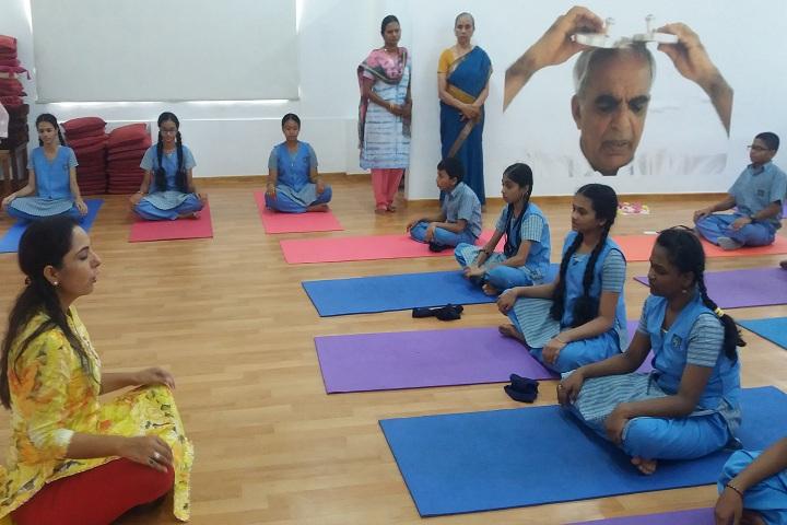 Sir Sivaswami Kalalaya Sr Sec School - yoga work shop