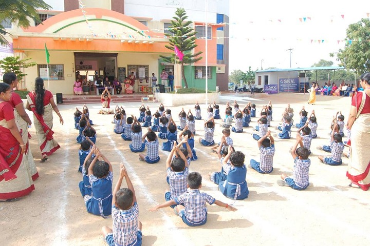 SKV International school-Yoga Activity