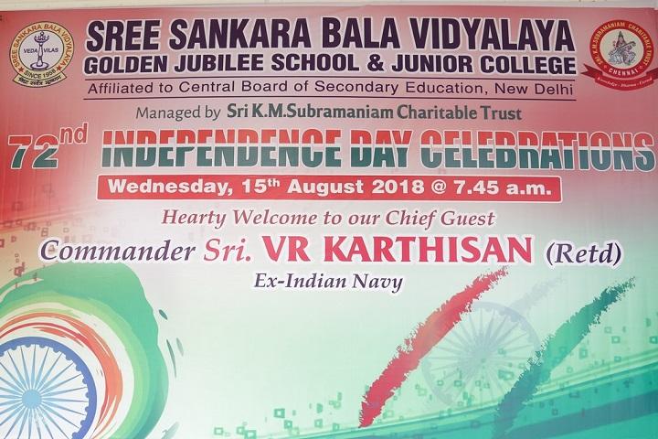Sree Sankara Bala Vidyalaya Golden Jubilee School-Independence day
