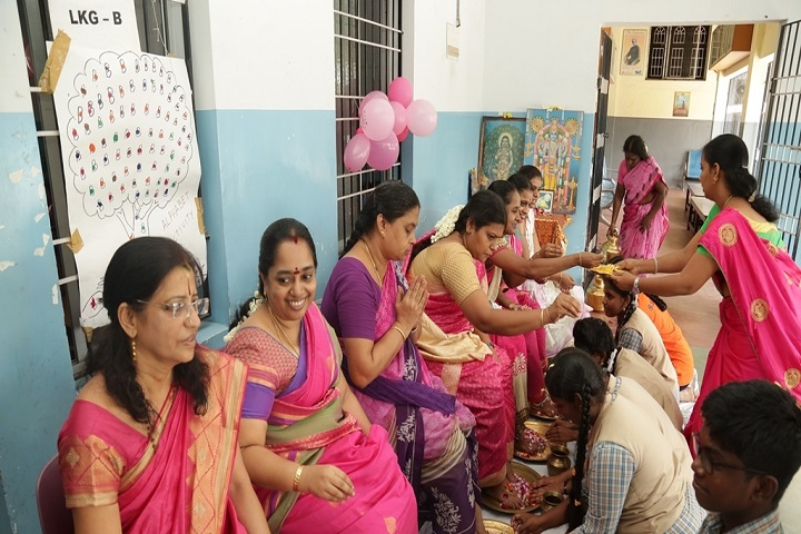 Sree Sankara Bala Vidyalaya Golden Jubilee School-guru purnima Celebrations