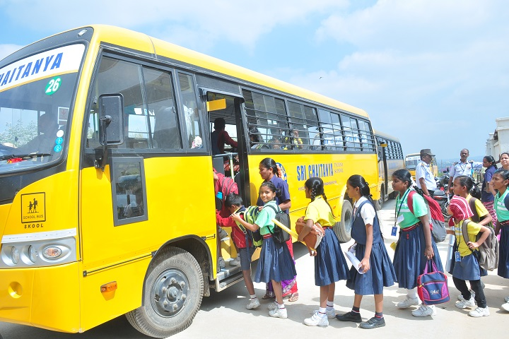 Sri chaitanya techno school-bus transport