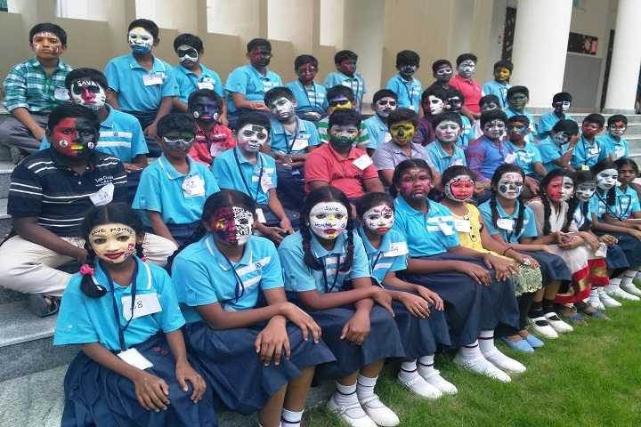 sri chaitanya techno school-face painting