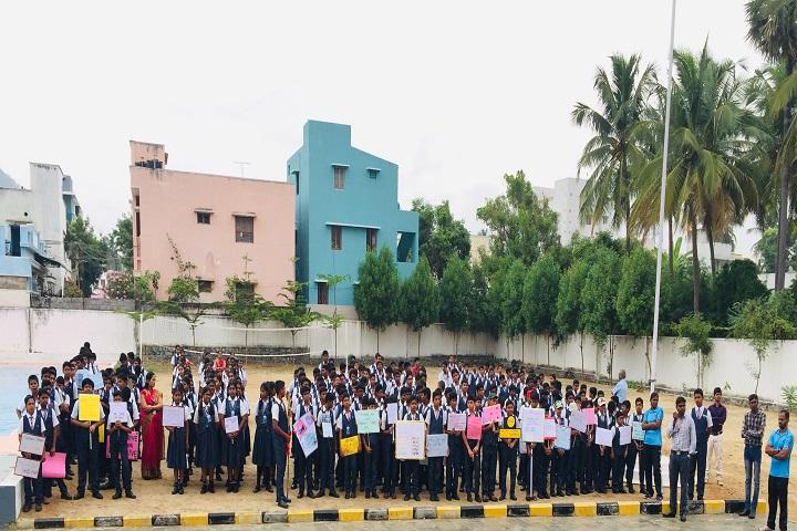 sri chaitanya techno school-protest