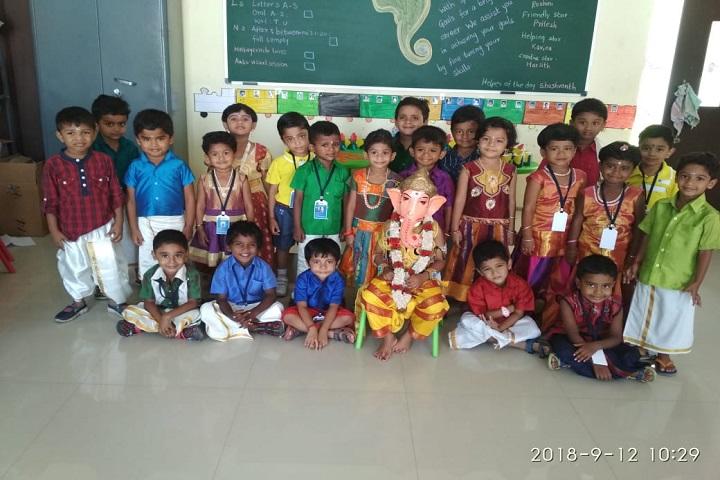 sri chaitanya techno school-vinayaka chaviti celebrations