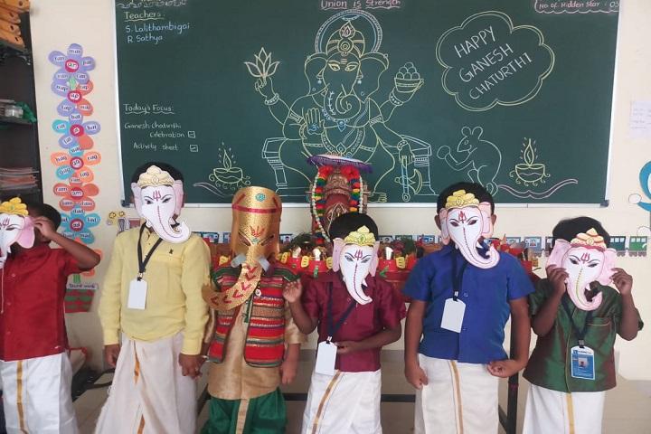 sri chaitanya techno school-vinayaka chaviti celebrations1