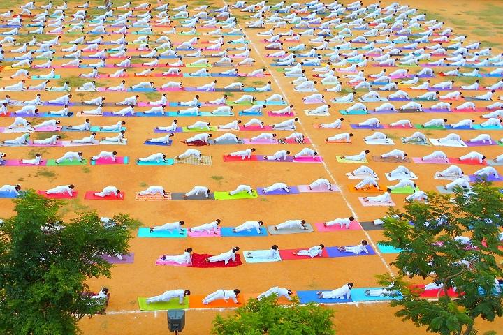 Sri Gurukulam Secondary School-yoga day