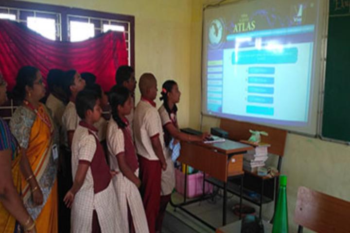 Sri Narayani Vidyashram School-Digital classroom