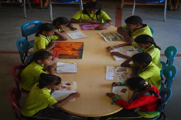 The Ashok Leyland School- Library