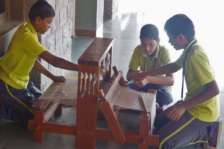 The Ashok Leyland School- Weaving