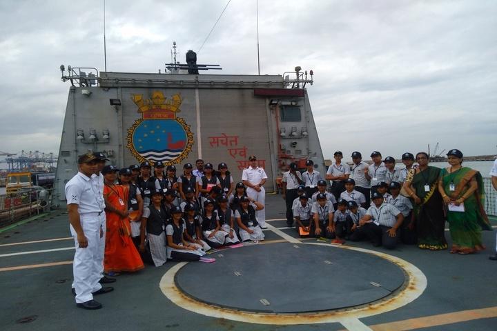 The Hindu Senior Secondary School- Naval Visit