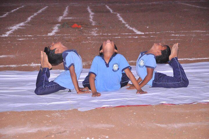 The Indian Model School-Yoga Activity