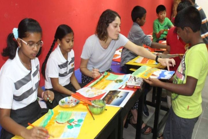The Velammal International School-Painting Class