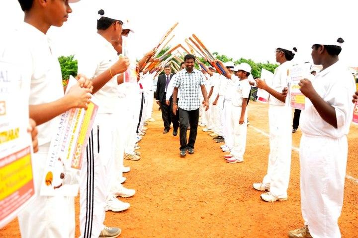 The Velammal International School-Welcoming the Guest